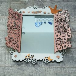 Frame Mirror file cdr and dxf free vector download for Laser cut