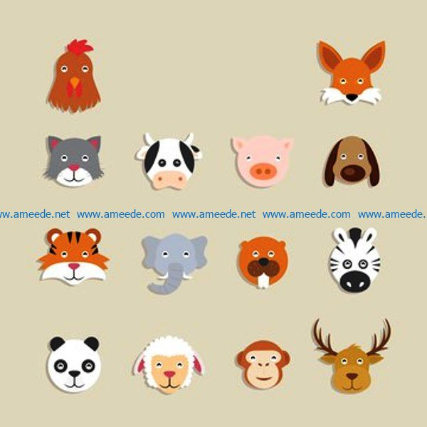 Funny animals file cdr and dxf free vector download for Laser cut