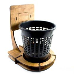 Garbage Basket file cdr and dxf free vector download for Laser cut