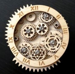 Gear clock file cdr and dxf free vector download for Laser cut