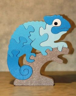 Gecko Puzzle file cdr and dxf free vector download for Laser cut