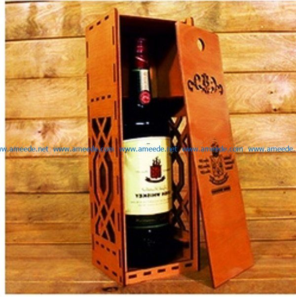 Gift wine box file cdr and dxf free vector download for Laser cut