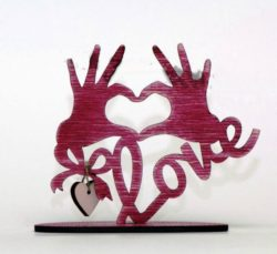 Hand of love file cdr and dxf free vector download for Laser cut