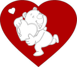 Heart and bear file cdr and dxf free vector download for laser engraving machines