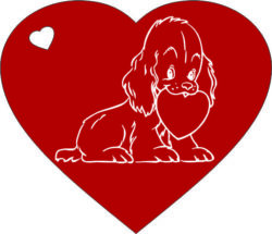 Heart and dog file cdr and dxf free vector download for laser engraving machines