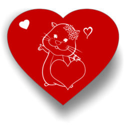 Heart and mouse file cdr and dxf free vector download for laser engraving machines