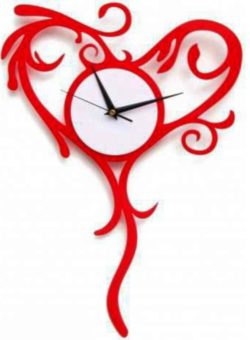 Heart clock file cdr and dxf free vector download for Laser cut