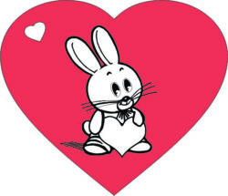 Heart with rabbit file cdr and dxf free vector download for laser engraving machines