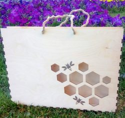 Honeycomb bag file cdr and dxf free vector download for Laser cut
