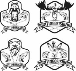 Hunting symbols file cdr and dxf free vector download for print or laser engraving machines