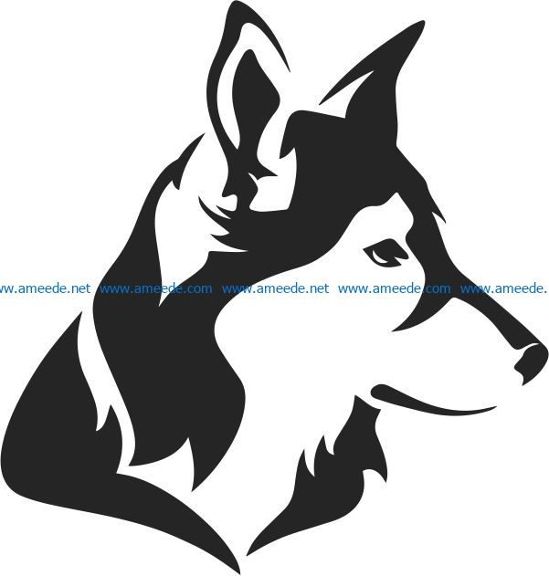 Husky file cdr and dxf free vector download for Laser cut Plasma