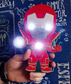 Iron Man Night Light file cdr and dxf free vector download for Laser cut