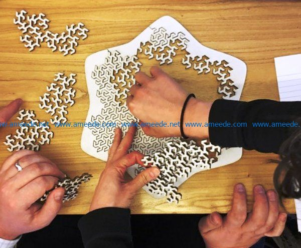 Jigsaw puzzle file cdr and dxf free vector download for Laser cut