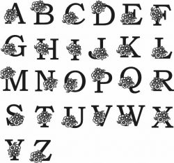 Latin Alphabet murals file cdr and dxf free vector download for Laser cut Plasma