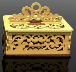 Lid casket with handle file cdr and dxf free vector download for Laser cut
