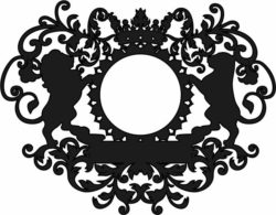 Lion frame file cdr and dxf free vector download for Laser cut