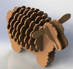 Lovely wooden sheep file cdr and dxf free vector download for Laser cut