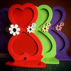 March frame with hearts daisies file cdr and dxf free vector download for Laser cut