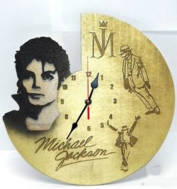 Michael Jackson wall clock file cdr and dxf free vector download for Laser cut