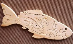 Mother and child fish free vector download for laser engraving machines and laser cut