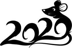 Mouse 2020 file cdr and dxf free vector download for print or laser engraving machines