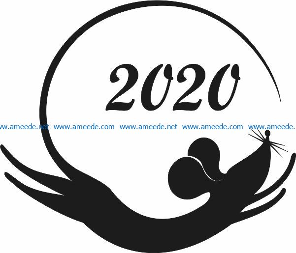 Mouse to fly file cdr and dxf free vector download for Laser cut Plasma