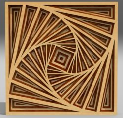 Multilayer 3D ornament file cdr and dxf free vector download for Laser cut