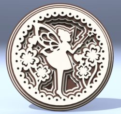 Multilayer Fairy file cdr and dxf free vector download for Laser cut