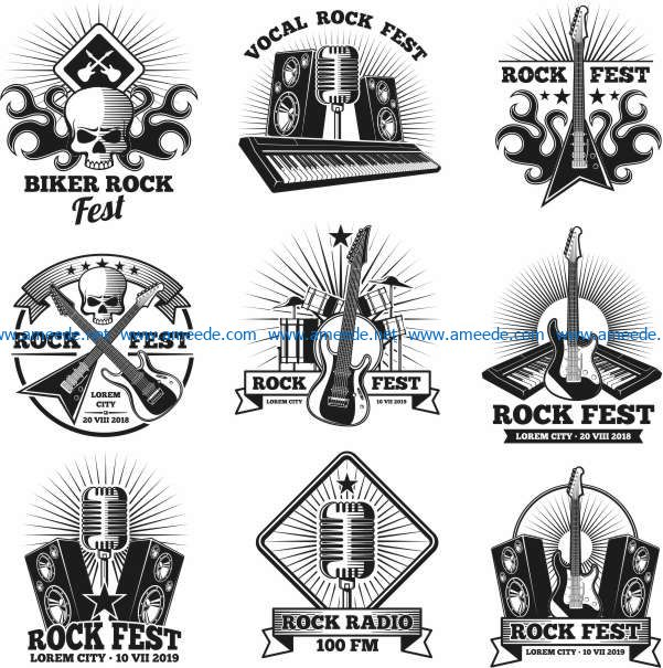 Music symbol file cdr and dxf free vector download for print or laser engraving machines