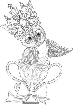 Owl and cup file cdr and dxf free vector download for laser engraving machines