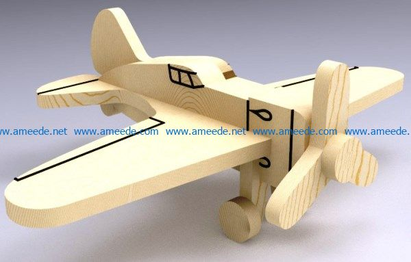 Plane I16 file cdr and dxf free vector download for Laser cut