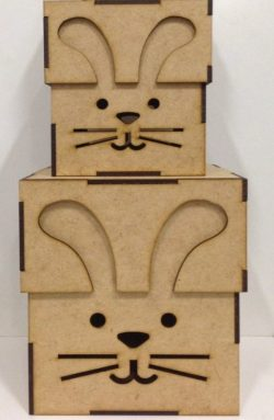 Rabbit box file cdr and dxf free vector download for Laser cut