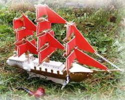 Ship model file cdr and dxf free vector download for Laser cut
