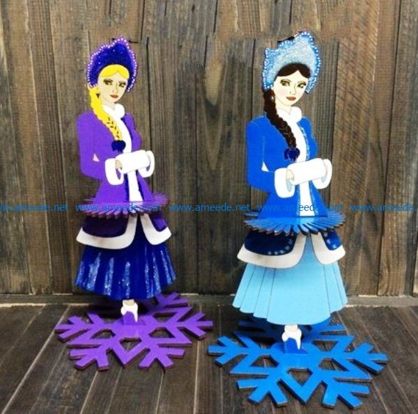 Snow Princess file cdr and dxf free vector download for Laser cut