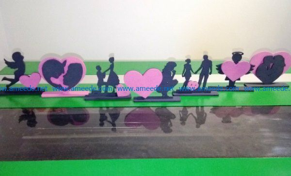 Statue of love file cdr and dxf free vector download for Laser cut