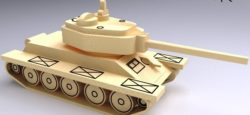Tank T34 file cdr and dxf free vector download for Laser cut