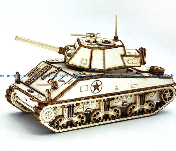 Tank model file cdr and dxf free vector download for Laser cut