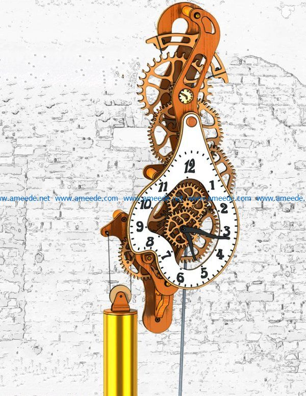 Timepiece file cdr and dxf free vector download for Laser cut