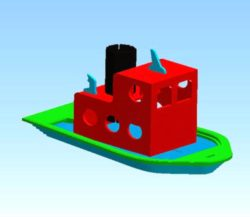 Toot Tugboat file cdr and dxf free vector download for Laser cut