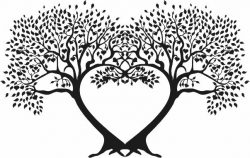 Tree to carve hearts file cdr and dxf free vector download for print or laser engraving machines