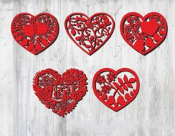 Valentine heart file cdr and dxf free vector download for Laser cut