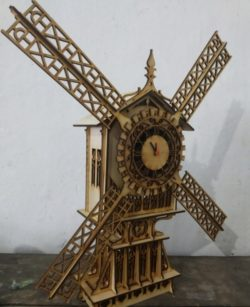 Windmill clock file cdr and dxf free vector download for Laser cut