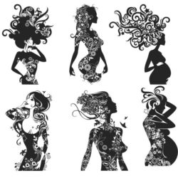Woman silhouettes file cdr and dxf free vector download for laser engraving machines
