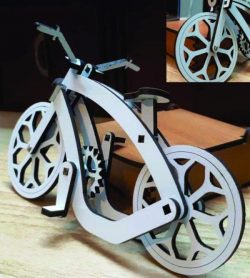 Wooden bicycle file cdr and dxf free vector download for Laser cut