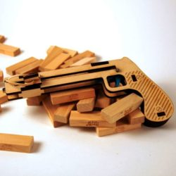 Wooden gun file cdr and dxf free vector download for Laser cut