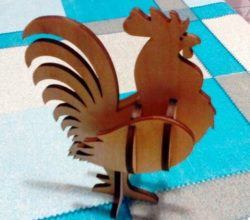 Wooden rooster file cdr and dxf free vector download for Laser cut