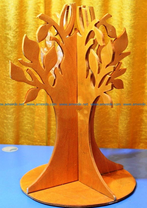 Wooden tree file cdr and dxf free vector download for Laser cut