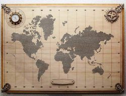 World map file cdr and dxf free vector download for laser engraving machines