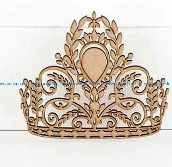beautiful crown file cdr and dxf free vector download for Laser cut