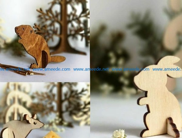 beaver hare rat file cdr and dxf free vector download for Laser cut